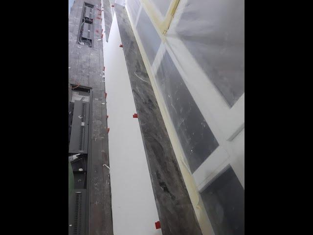 Узкие подоконники из акрила мраморной серии Hanex Bellassimo II BL-206 Slate Grey