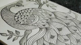 Peacock Zentangle Art|Peacock Feather Zentangle Art|Peacock Doodle Art|Peacock Drawing| Peacock
