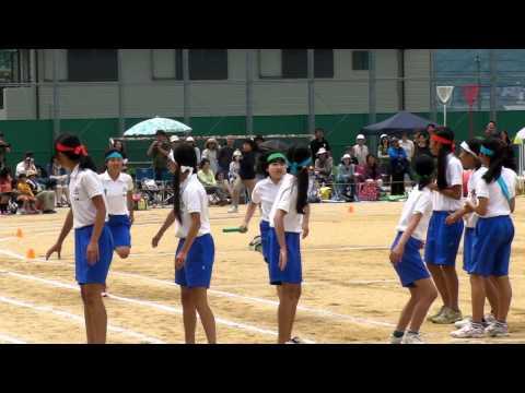 Japan Sports Meets 4x200 relay  (6th grader)  運動会 リレー 6年
