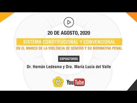 SISTEMA CONSTITUCIONAL Y CONVENCIONAL EN EL MARCO DE LA VIOLENCIA DE GÉNERO Y SU NORMATIVA PENAL - 20 de Agosto 2020