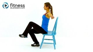 Workout at Work - Low Impact Total Body Chair Workout Routine by FitnessBlender.com by FitnessBlender