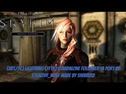 Skyrim Cloud Strife Playermodel/Full Voiced Follower Mod - смотреть