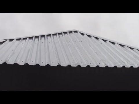 Бескаркасная кровля. Бюджетная крыша для гаража своими руками. Гараж из профнастила