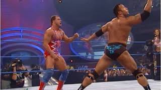 Kurt Angle & Stephanie Vs The Rock & Lita