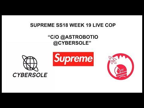 Supreme s/s 18 Week 19 Live Cop w/ Astro & CyberAIO (DSM US