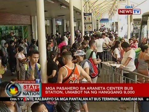 SONA: Mga pasahero sa Araneta Center Bus Station, umabot na ng hanggang 9,000
