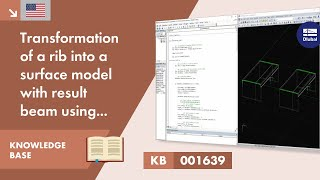 KB 001639 | Rib Transformation Into Surface Model With Result Beam Using VBA