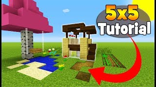 Minecraft Tutorial How To Make A 5x5 Starter House 5x5 House Minecraftvideos Tv