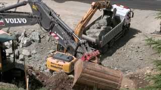 preview picture of video '3-S PARDATSCHGRAT A2 - TEIL 1 Bauarbeiten Talstation'