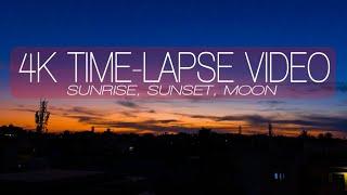 4k Video Sunrise , Sunset & Moon Timelapse   Timelapse Photography  Bangalore Karnataka #with Me