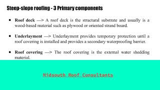 Different Types of Roofing Systems - Midsouth Roof Consultants