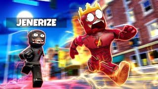 BECOMING DARK FLASH & CHASING THE REAL FLASH IN ROBLOX!