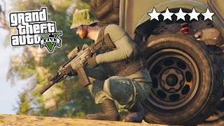 GTA 5 Online 5 STAR Destruction! 5 Star POLICE Getaway in GTA Online! (GTA 5 PS4 Gameplay)