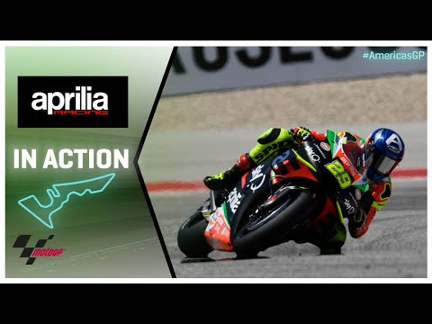 Aprilia in action: Red Bull Grand Prix of the Americas