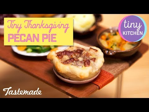 Tiny Thanksgiving Pecan Pie I Tiny Kitchen