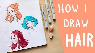 How To Draw Hair | Starting With Shapes & Adding Details