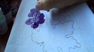 Pintura das Uvas (com violeta e branco)