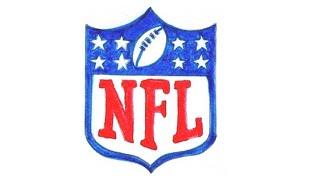 Wie zeichnet man logo der NFL National Football League (American Football) Tutorial