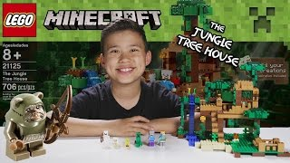 LEGO MINECRAFT - Set 21125 THE JUNGLE TREE HOUSE - Unboxing, Review, Time-Lapse Build