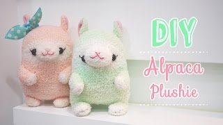 Kawaii Alpaca Sock Plushie Tutorial - DIY