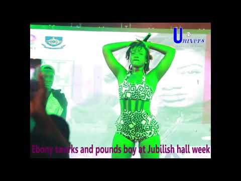 VIDEO: Ebony twerks on Legon student at Jubilish Hall Week