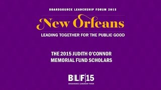 The Judith O'Connor Memorial Fund Scholarship Recipients