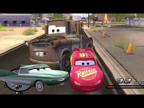 Disney Pixars Cars Movie Game - Crash Mcqueen 95 - Tour Of Radiator Springs