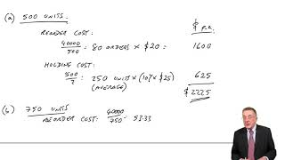 Inventory Control (part 1) The EOQ Formula- ACCA Management Accounting (MA)