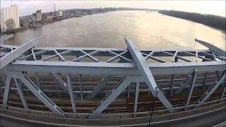 preview picture of video 'DJI Phantom Türr István híd Baja.Baja:Türr Istvan Bridge.'
