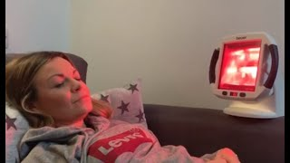 Beurer infrared heat lamp review - for muscle and joint pain, headaches, skin and anti-aging