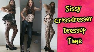 Sissy Crossdresser Dressup Time : 15 Bodystocking Looks