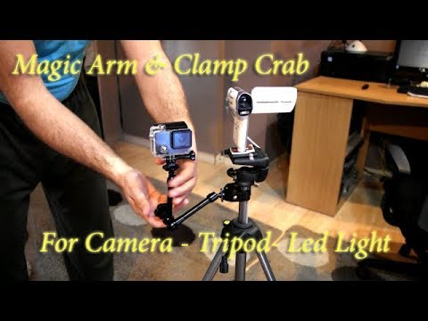 Articulate Magic Arm & Clamp Crab for Camera - Tripod, Banggood.com