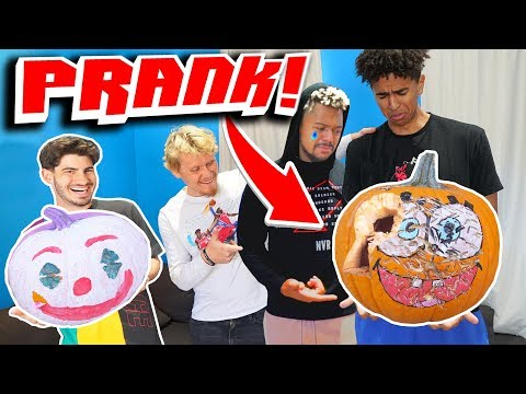 DESTROYING My Roommates Painted Pumpkin!!!