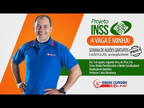 Concurso INSS: Previdenciário e Constitucional – Prof. Carlos Mendonça