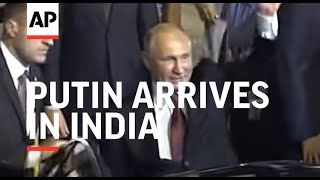 Russian President Putin Arrives In India