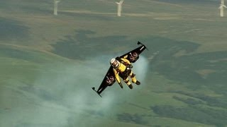 JETMAN Yves Rossy in A Strnge Race