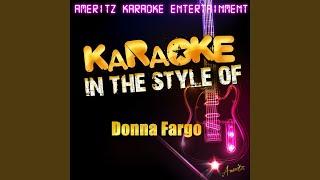 It Do Feel Good (In the Style of Donna Fargo) (Karaoke Version)