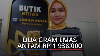 Harga Emas Hari Ini Rabu 27 Januari 2021 di Pegadaian Padang, Dua Gram Emas Antam Rp 1.938.000