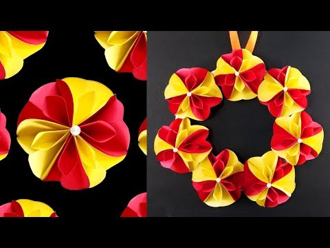 How To Make Easy Paper Flower Wall Hanging Flowers Healthy