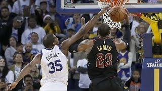 Kevin Durant vs LeBron James NBA Christmas Cavs vs Warriors 2017-18 Season