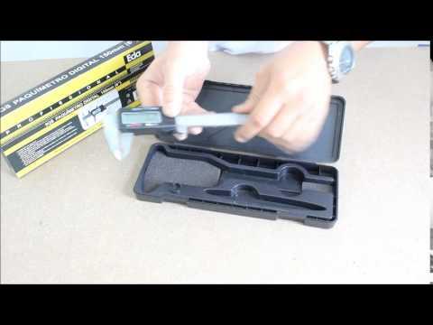 Conhecendo o Paquímetro Digital 150 mm com Estojo 9QS EDA.