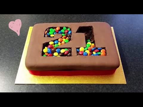 "Video ""M&M Madness!"" Birthday Cake"