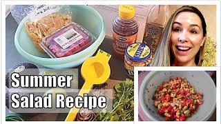 Summer Salad Recipe ~ Sweet Corn, Tomato, Avacado, Cilantro Salad ~