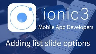 Ionic 3 Tutorials #5 Adding list slide options