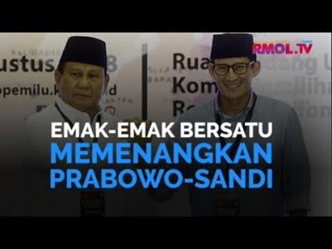 Emak-emak Bersatu Memenangkan Prabowo-Sandi
