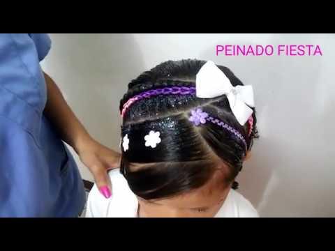 Remix Peinado Infantil Fiesta Party Hairstyle Ninas Lindas Con
