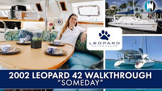 "Walkthrough of a Robertson & Caine Leopard 42 Catamaran for Sale ""SOMEDAY"" [4K]"