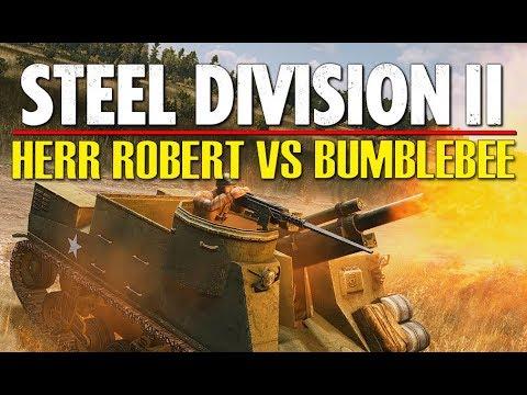 HERR ROBERT VS BUMBLEBEE! Throwback Tournament, Steel Division 2 (Slutsk West, 1v1)
