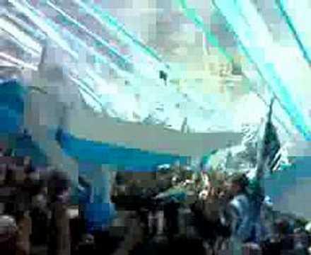 """""""LA GUARDIA IMPERIAL RECIBIENDO A RACING"""" Barra: La Guardia Imperial • Club: Racing Club • País: Argentina"""