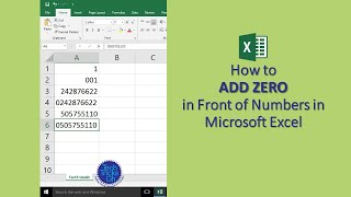 HOW TO ADD ZERO IN FRONT OF NUMBERS IN MICROSOFT EXCEL